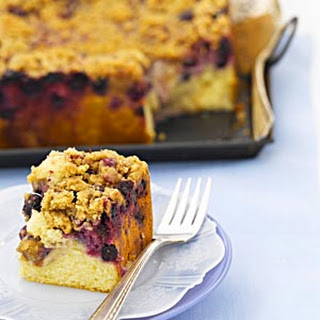 Overnight Blueberry Streusel Coffee Cake