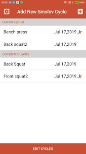 Smolov Pro Squat Calculator Screenshot