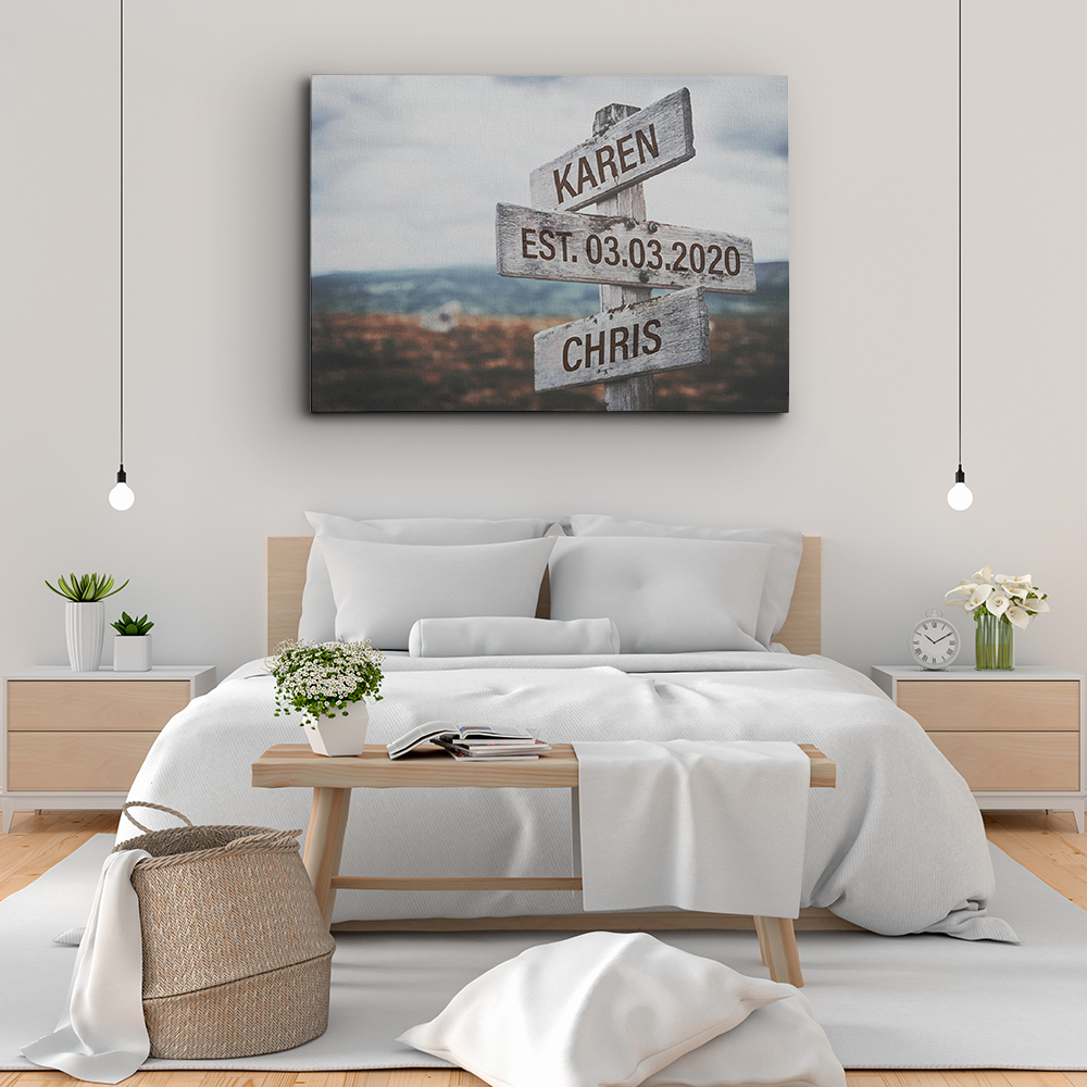 Get Personalized Canvas Art in Print Bedroom wall decor ideas