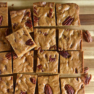 Salted Whole Wheat Butterscotch Blondies with Pecans.