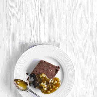 Chocolate Terrine With Caramel-nut Sauce.