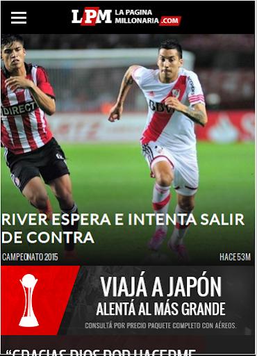 Lector noticias River Plate