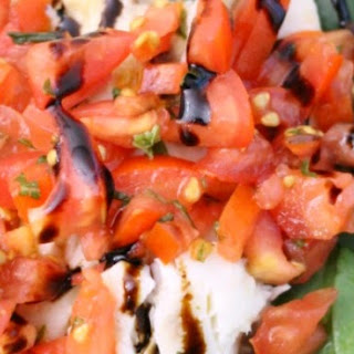 Roasted Tilapia with Bruschetta Topping