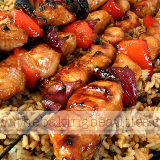 Yummy Honey Chicken Kabobs.