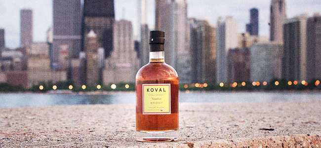 KOVAL Bourbon And The Chicago Skyline