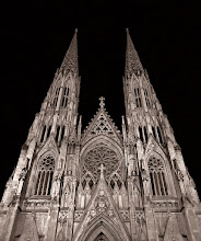 Photo: Here's a shot of St. Patrick's Cathedral that I took a couple of years ago that I sort of liked. I shot this with my Olympus E-3 with the 7-14mm lens. When I took the shot I couldn't avoid a bright light which appeared near the bottom left. I ended up copying information from the right side to paste in to get rid of the offending spot.  If you are interested in seeing the before shot and how I processed it, check out: http://imagenotebook.jameshowephotography.com/2008/03/st-patricks-cathedral-nyc.html