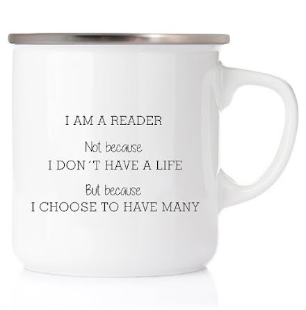 Emaljmugg - I am a reader