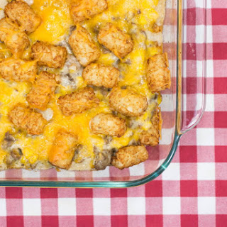 Cowboy Tater Tot Casserole for Two.