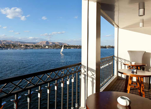 Take in the passing landscapes along the Nile from the Lounge Terrace on ms Mayfair.