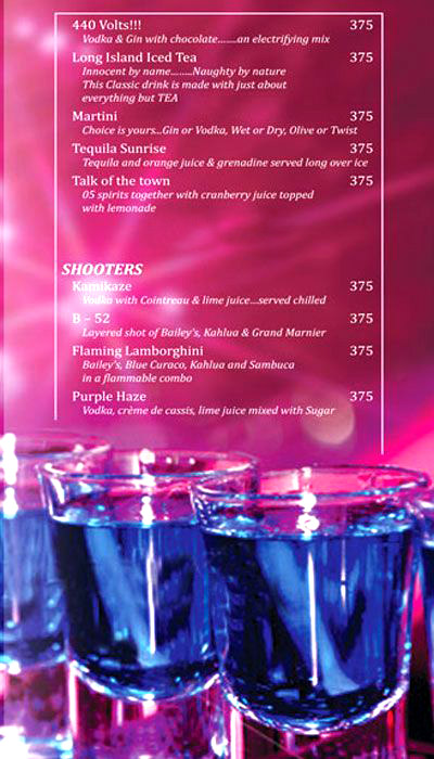 Bar & Lounge, Ramada menu 5