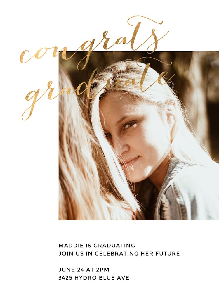 Maddie's Graduation Party - Graduation Announcement Template
