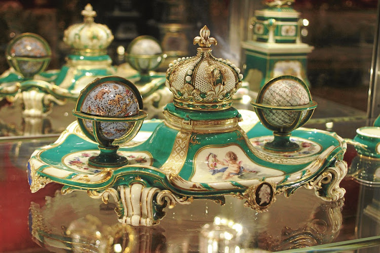 Marie Adelaide's inkstand. From the Sèvres porcelain collection. Picture: SUPPLIED
