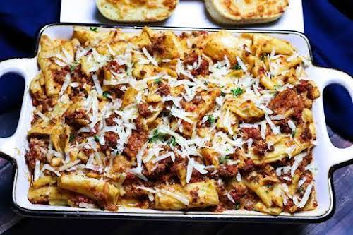 """Crock Pot Baked Ziti""""Threw this together the other night for dinner. It..."""