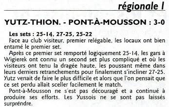 Photo: 04-02-2012 R1M L'ASVB se donne un peu d'air en prenant 3 points face à Pont-à-Mousson