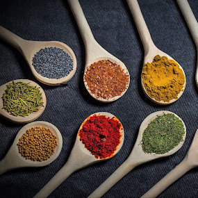 Ingredients2 by Ovidiu Sova - Food & Drink Ingredients ( ingredients, spoons, colorful, food, eating, spices,  )