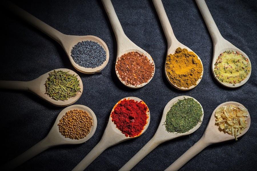 Ingredients2 by Ovidiu Sova - Food & Drink Ingredients ( ingredients, spoons, colorful, food, eating, spices,  )