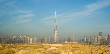 Photo: One building sort of stood out of the Dubai skyline. The tower was visible almost anywhere you went.