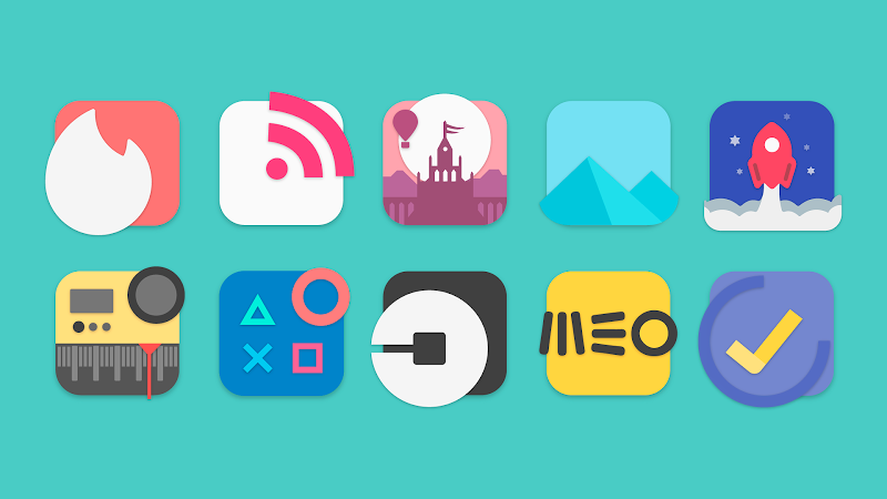 Flat Evo - Icon Pack Screenshot 0