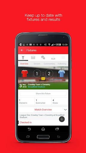 Fan App for Crawley Town FC