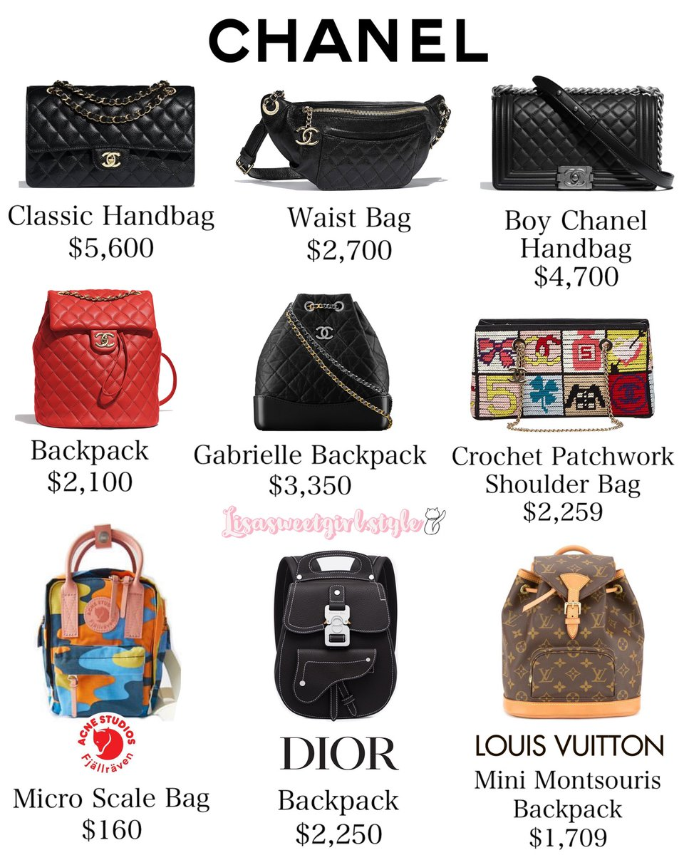 blackpink lisa bags