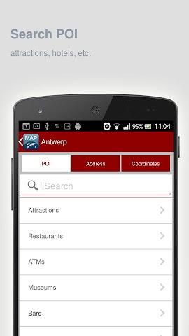Screenshot 2 Karte von Antwerpen offline