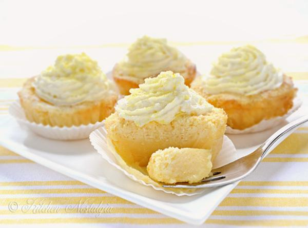 Lemon Magic Cake Cupcakes Recipe