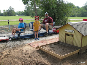 Photo: Andy Isles and children at Lakeside looking at the new station.  HALS RPW  2009-0905