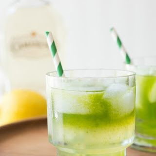 Tequila with Cilantro Lemonade Cocktail.