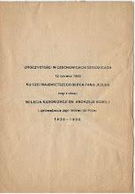 Photo: Broszura z okazji 50-lecia kanonizacji św. Andrzeja Boboli 1938 - 1988. Wyd. Parafia Św. Józefa Robotnika ul. Sobieskiego 40 43-322 Czechowice-Dziedzice