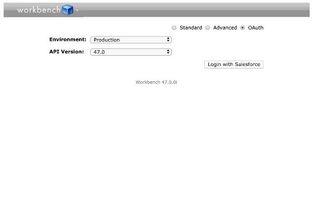 Salesforce WorkBench v2.0