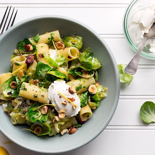 with brussels sprouts leeks and lemon sun basket rigatoni leeks ...