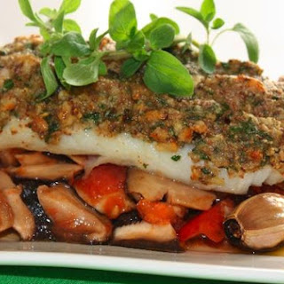 One More Thanks To Alain Ducasse – Cod With Herb-Butter, Shiitake and Tomato Concassée