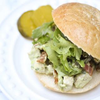 Avocado Bacon Chicken Salad Sandwiches.