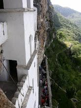Photo: The faithfully visiting the saints bones at Ostrog Monastary