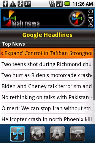 Flash News for Android screenshot 2