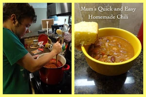 Mum's Quick And Easy Homemade Chili Recipe