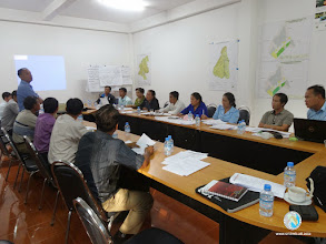 Photo: Workshop session by Mr. Phatnakhone Khanthamixay Country Coordinator for Laos , SRI-LMB project
