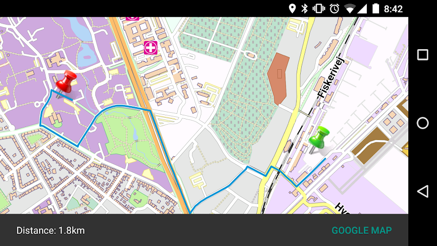 android Gothenburg-Sweden Offline Map Screenshot 1