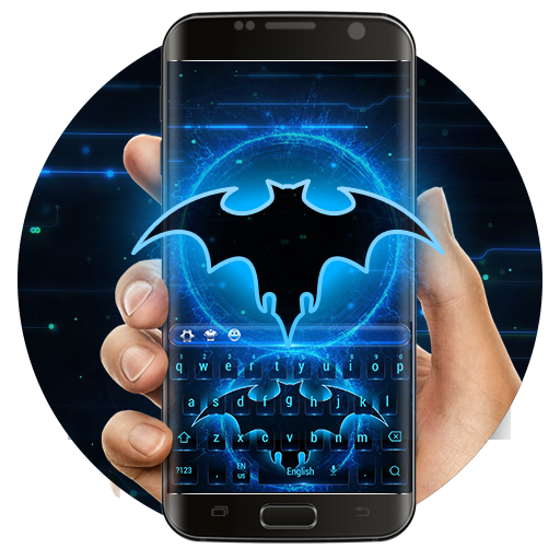 Neon bats keyboard