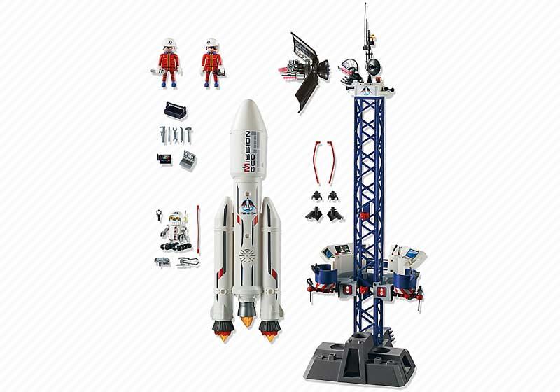 Contenido real de Playmobil® 6195 Cohete con Plataforma de Lanzamiento