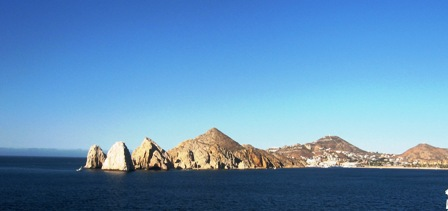 Arriving Cabo San Lucas by ship