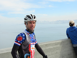 Photo: Chris Phipps with SF in the background