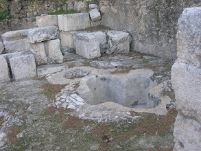 Photo: baptistery at Emmaus