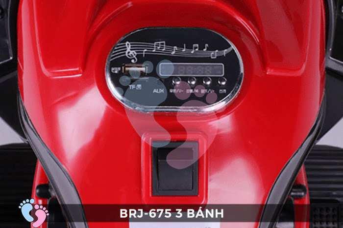 Xe moto điện trẻ em BRJ-675 3 bánh 16