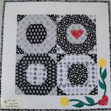Photo: This stunning black and white block was made from pattern HBH301 - Summer Wind. This original quilt is queen size, but you could put together as many block as you wish to produce the size quilt of your choice.
