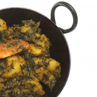 Sag Aloo (Curried Spinach And Potatoes)