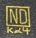 Photo: ND mark unidentified Interesting to see Western letters used.