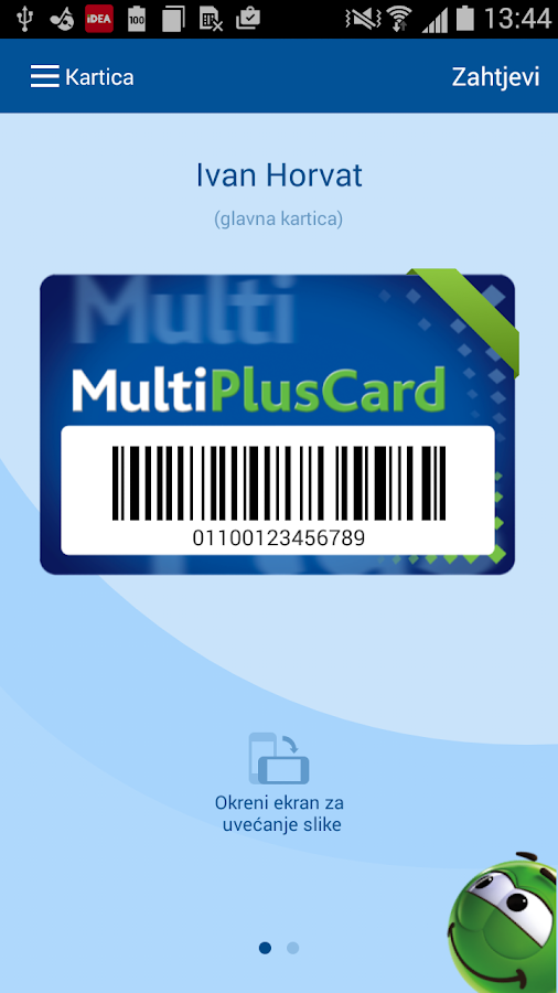 MultiPlusCard- screenshot
