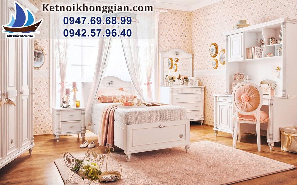 thiết kế phòng ngủ bé gái phong cách châu âu
