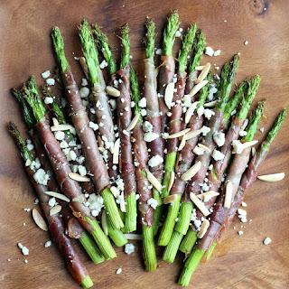 Prosciutto Wrapped Asparagus with Almonds and Gorgonzola Recipe